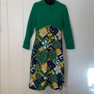 🤩Vtg 60s Puritan Forever Young  polyester dress